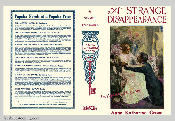 A Strange Disappearance Facsimile Dust Jacket